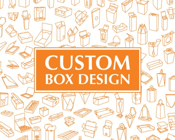 CUSTOM BOX DESIGN Personalized Printable Custom Packaging Etsy