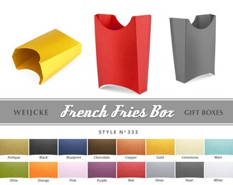 FRENCH FRIES BOX Packaging Box Do-It-Yourself Box Paper Box Popcorn Box Food Box Party Box Package Retail Box Candy Box Snack Box French Box