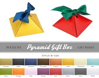 PYRAMID GIFT BOX Ribbon Gift Boxes Ready Made Paper Box Little Box Wedding Rings Box Proposal Gifts Ribbon Box Ring Bearer Box Keepsake Box