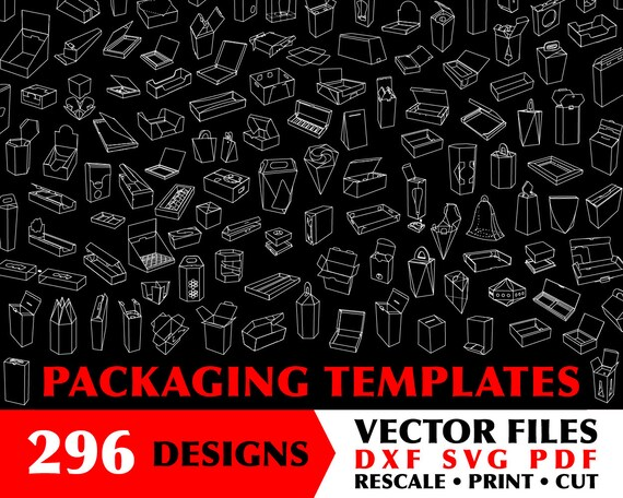 296 x Weijcke DIY Printable Gift Box Template Svg Gift Box Svg | Etsy