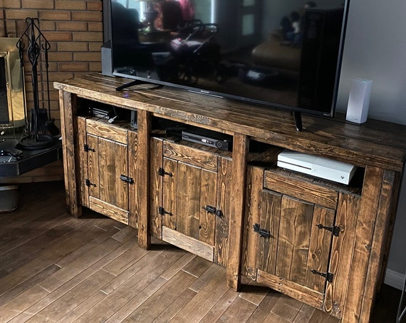 Reclaimed Wood Entertainment Stand