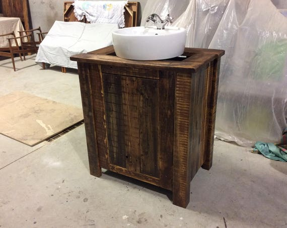 Solid Reclaimed Wood Bathroom Vanities