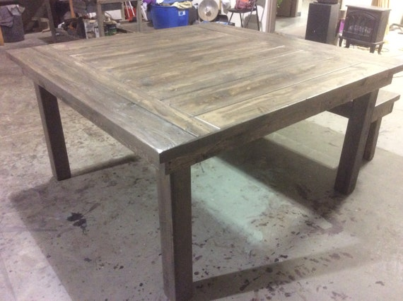 Solid Wood  Rustic Dining Table