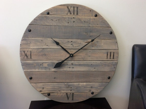 Large rustic, reclaimed wood clock