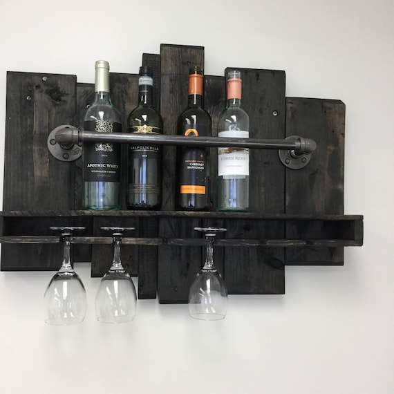 Reclaimed Iron and Industrial Pipe Wine Rack