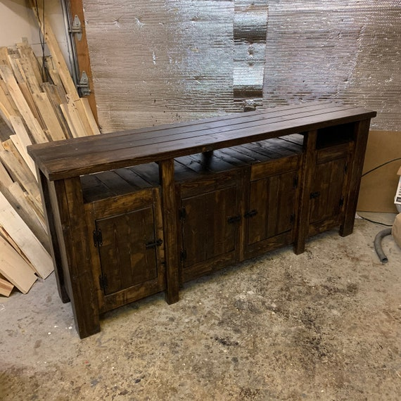 Custom Build Reclaimed Wood Entertainment Stand