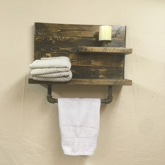 Bathroom Towel Bar and Acessory Shelf