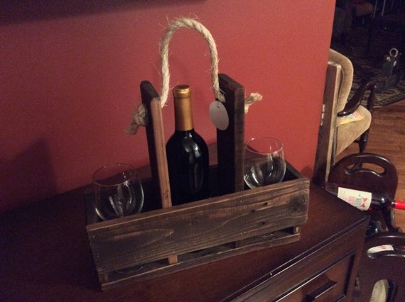 Reclaimed Wood Wine Caddy