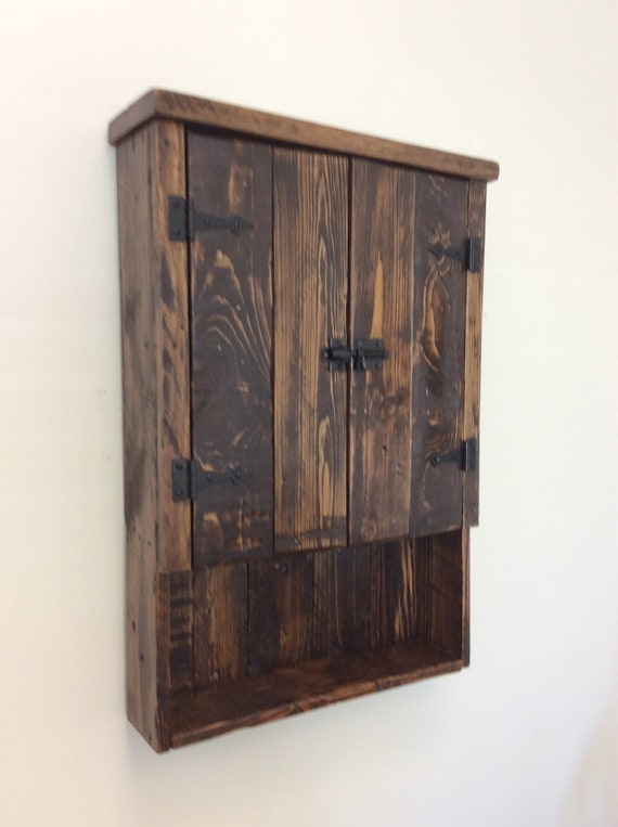 Rustic Reclaimed Wood Bathroom Cabinet