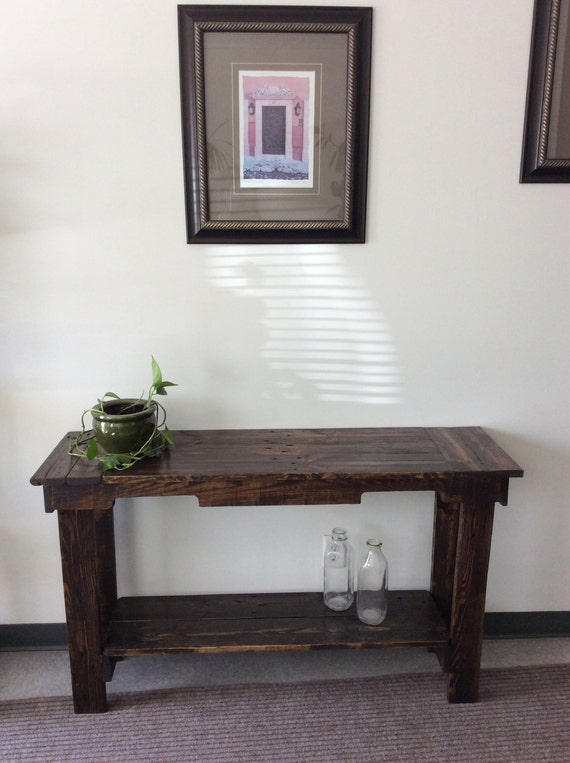Reclaimed wood hallway table