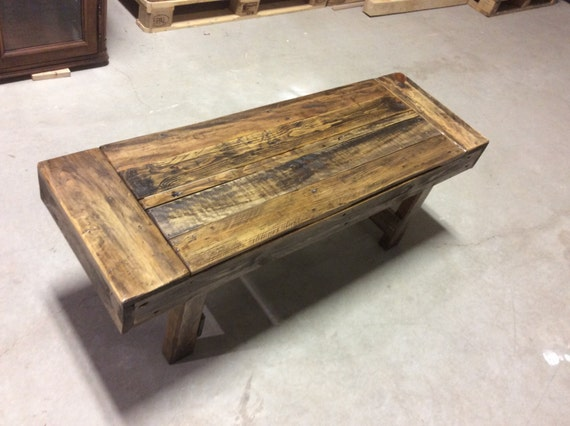 Solid Reclaimed Wood, Rustic Bench