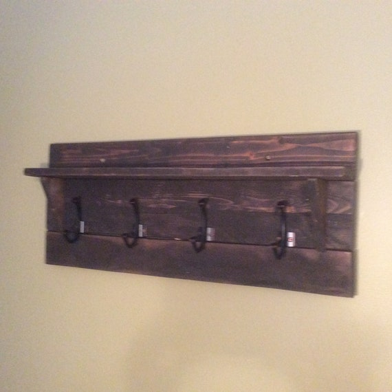 Reclaimed wood coat hook/shelf