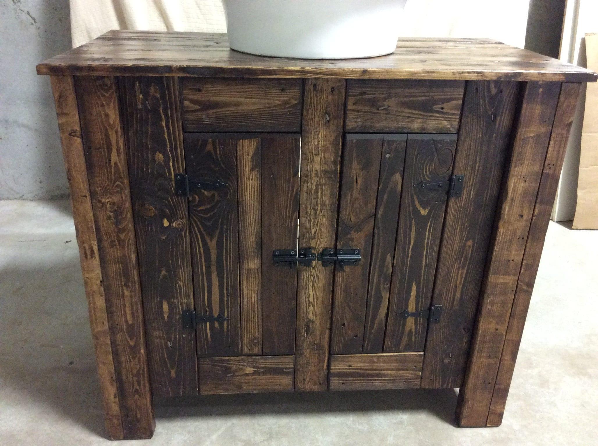 Reclaimed Wood Bathroom Vanities