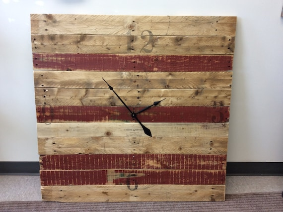 Large clock - solid reclaimed wood