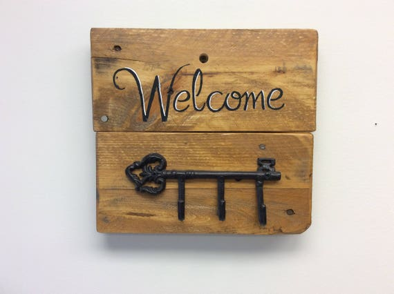 Reclaimed Wood Welcome Key Racks