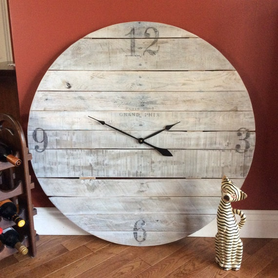 Custom build, reclaimed wood, large clocks