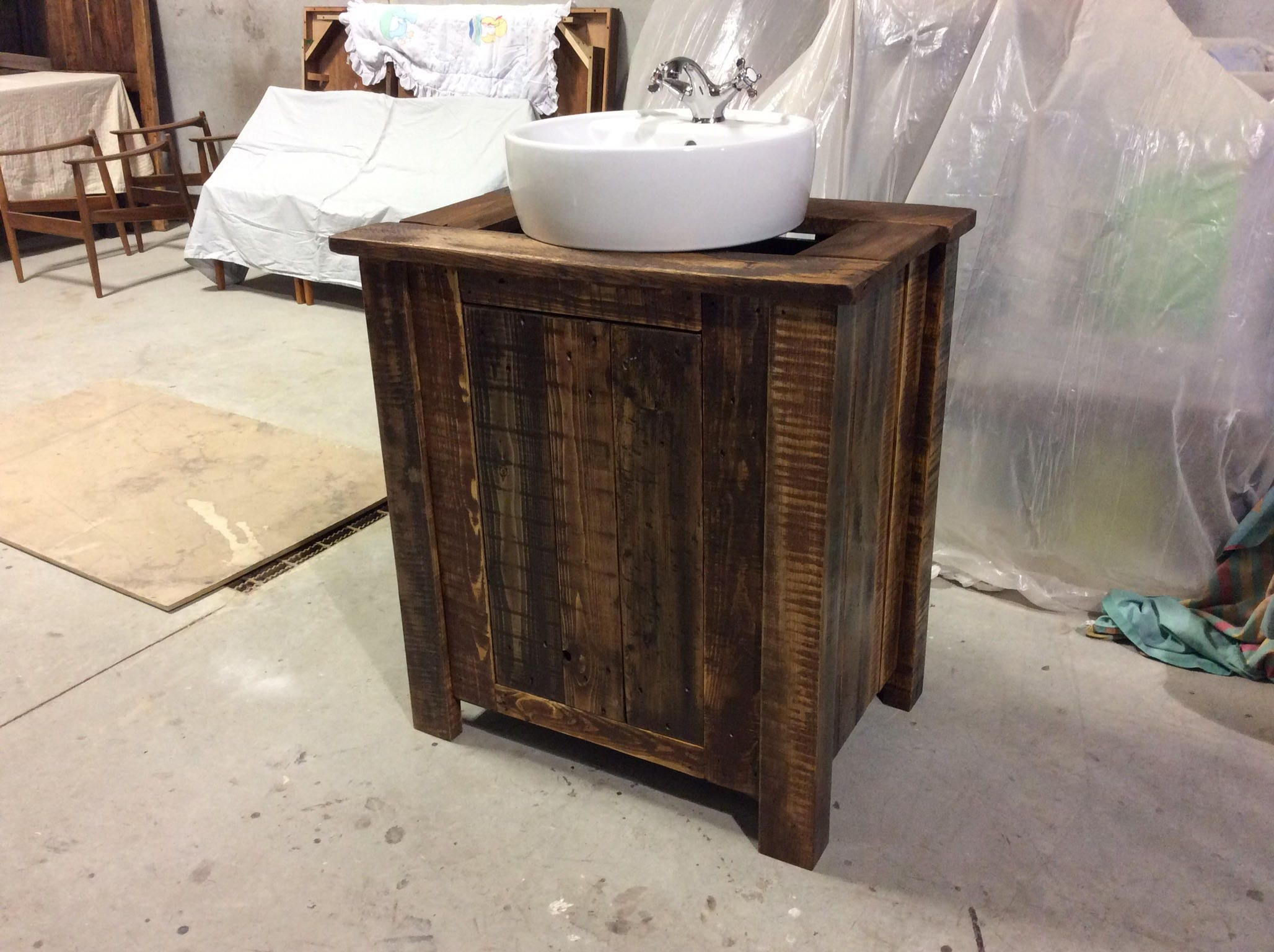 solid reclaimed wood bathroom vanities - Wood Bathroom Vanities