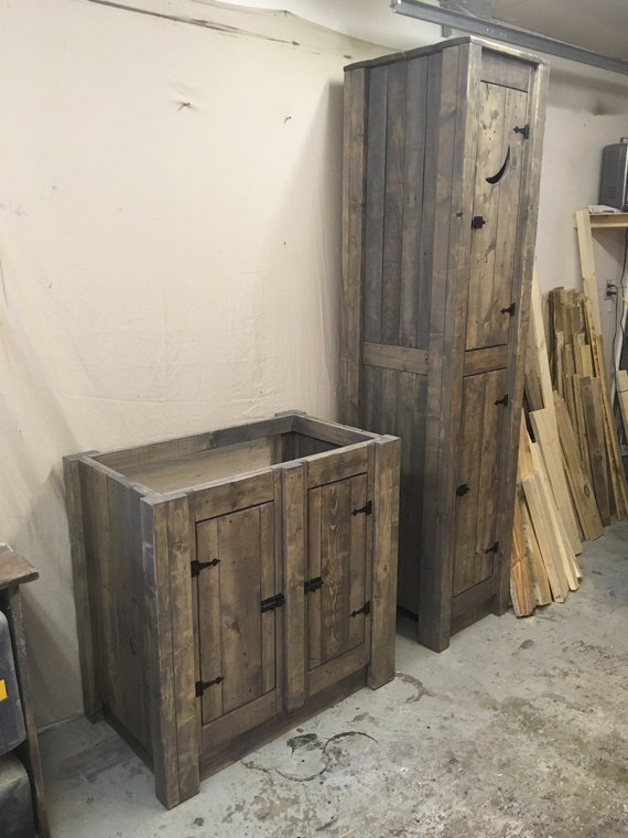 Reclaimed Wood Vanities and Cabinets