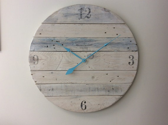 Custom order 15 inch reclaimed wood clock
