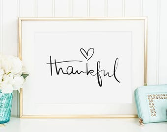 Thankful Quotes Etsy