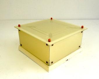 Art Deco Stijl : Rarebig original s de stijl tin box bauhaus art deco bonbons etsy