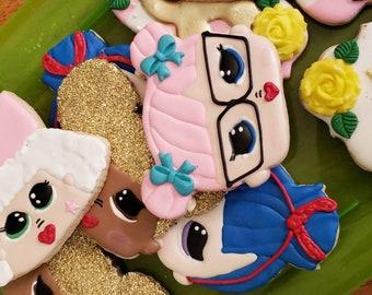163d7a5583b Doll Cookies - SET OF 12- LOL Doll Cookies