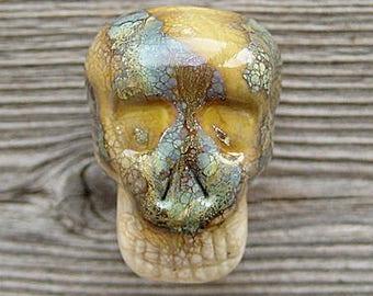 Skull lampwork bead