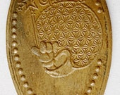 Epcot Micky Holding Wand Spaceship Earth elongated penny keepsake penny Squished penny HT9490