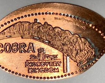 Six Flags Parks Discovery Kingdom Medusa ride Souvenir pressed penny
