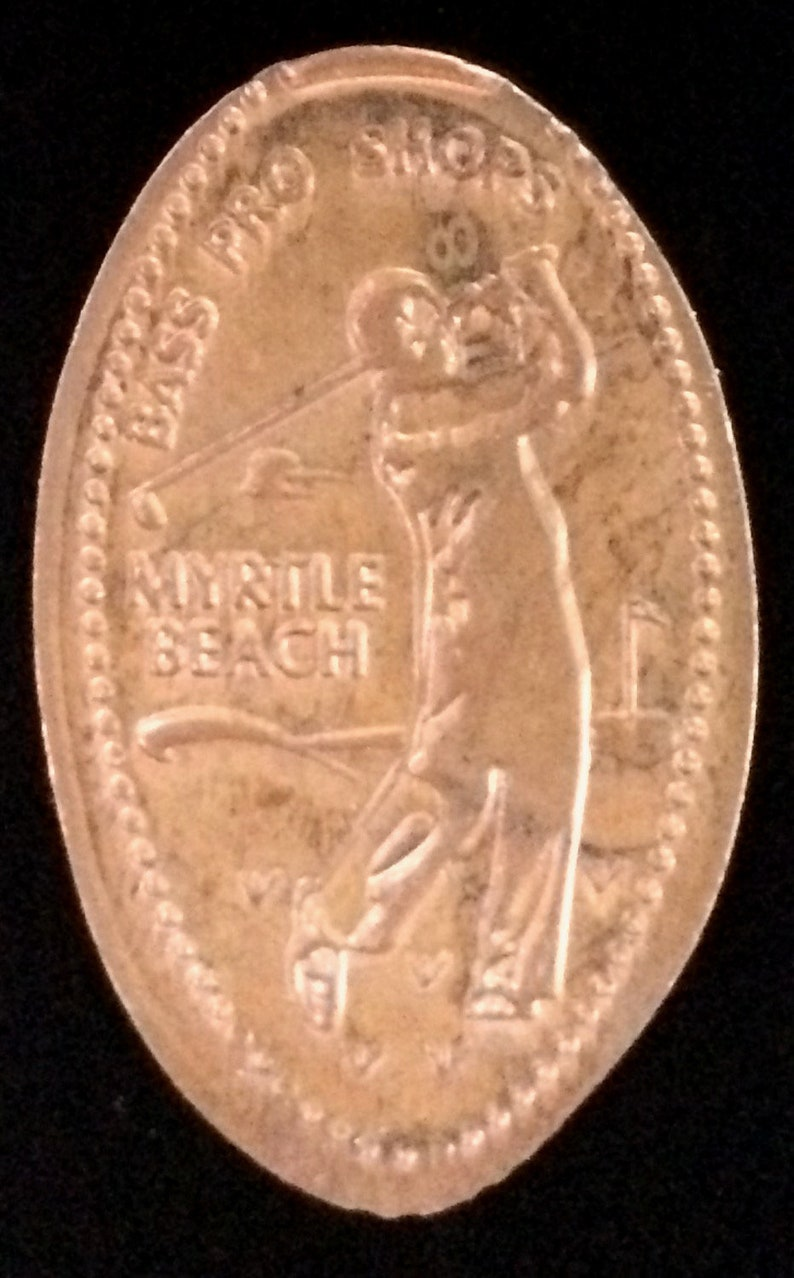 Myrtle Beach Golfer Bass Pro Shops Pressed Penny