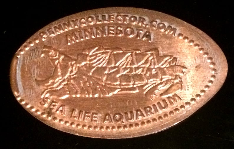 Snapping Turtle Minnesota Sea Life Aquarium Bloomington elongated penny  souvenir penny lucky penny lucky coin pressed penny HT1713