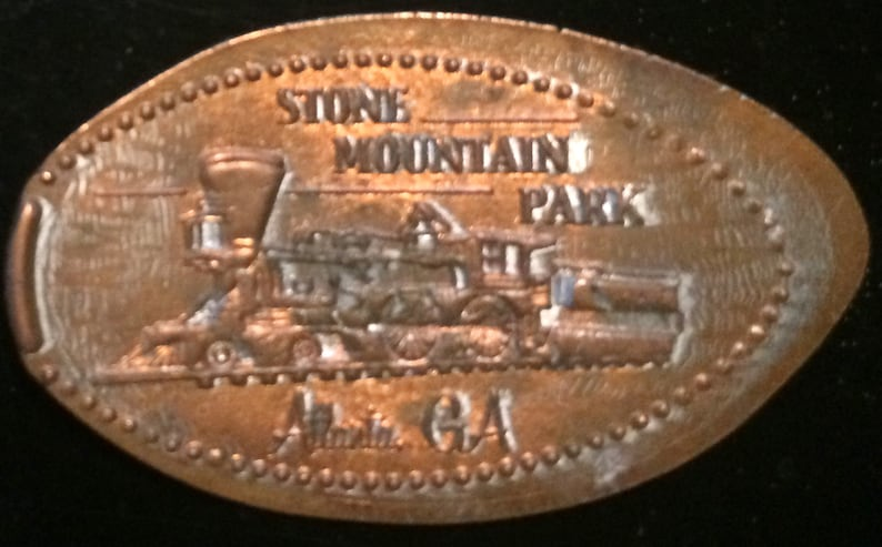 Stone Mountain Train Pressed Penny