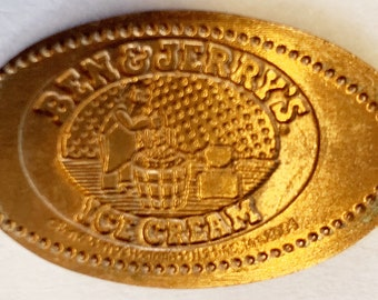 Ben and Jerrys Ice Cream elongated penny Waterbury Vermont pressed penny HT9055