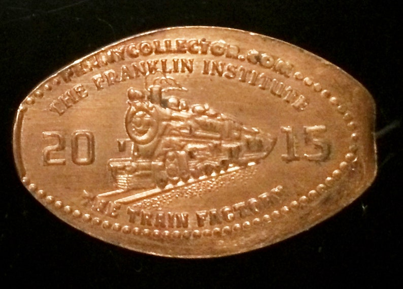 Franklin Institute Locomotive Pressed Penny