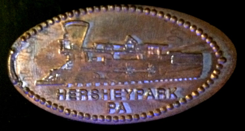 Hershey Park Train Pressed Penny