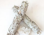 Large Bundle White Sage Salvia Incense Cleanse Cleaning Energy Feng Shui Zen Meditation Clear Mind OM Smudge