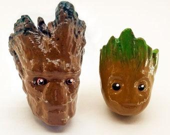 Groot & Baby Groot Drawer Pulls   Marvel Comics