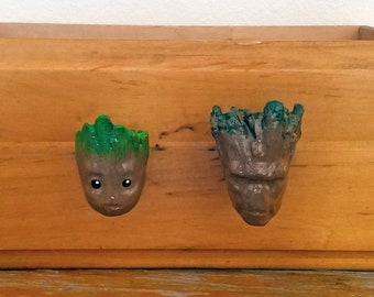 Groot & Baby Groot Drawer Pulls | Marvel Comics