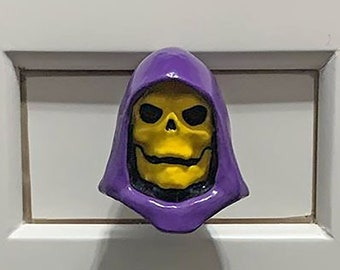 Skeletor Furniture Knob | He Man MotU Dresser Drawer Pulls | He-Man Geek Kitchen Cabinet Knobs