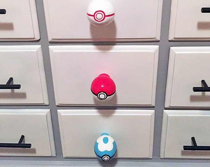 Pokeball Drawer Pulls *different styles* | Pokemon