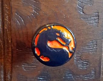 Mortal Kombat Logo Drawer Pull - MK Arcade Cabinet Knob