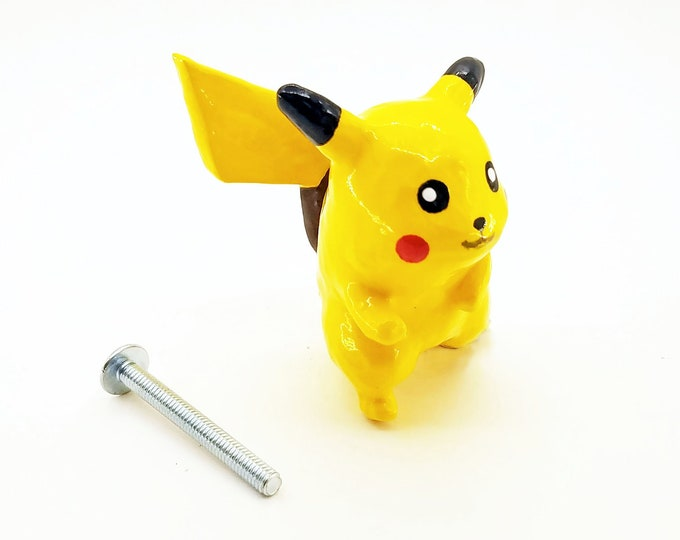 Pikachu Cabinet Knob (full body) | Pokemon