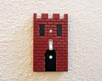 Super Mario Castle Light Switch Cover / Outlet / GFCI Rocker - nintendo video game decor kids bedroom idea