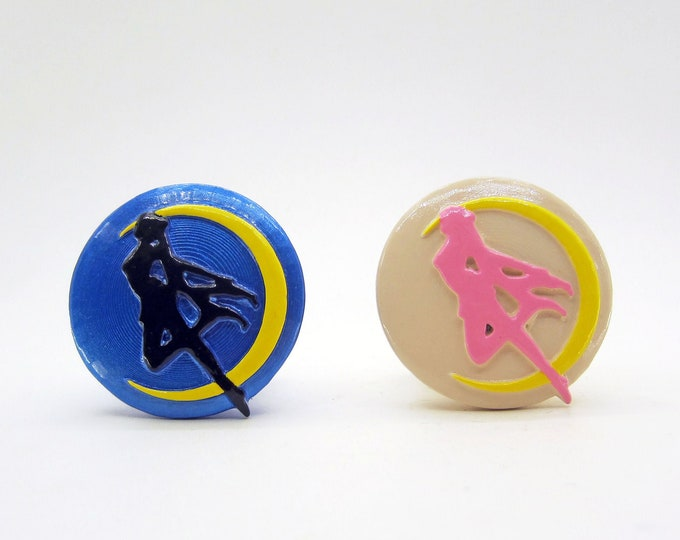 Sailor Moon Silhouette Drawer Pulls