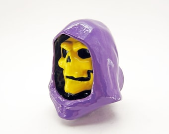 Skeletor Furniture Knob | He Man MotU Dresser Drawer Pulls | He-Man Geek Kitchen Cabinet Knobs