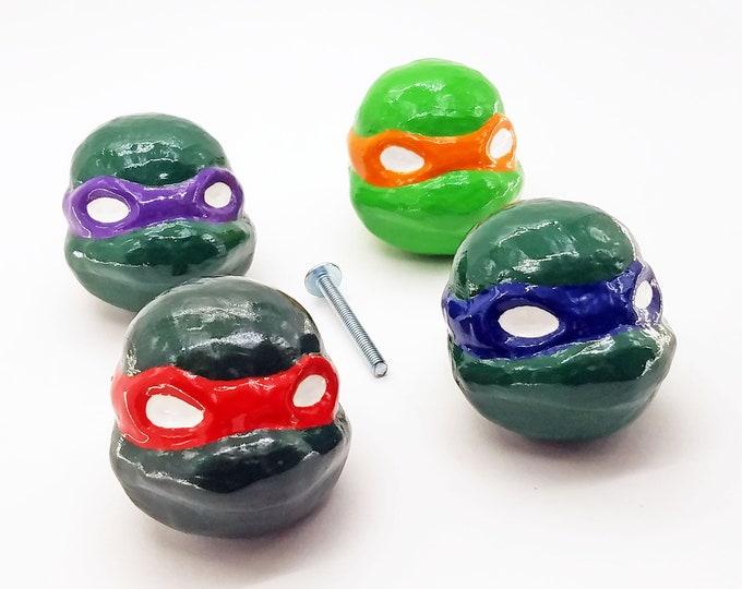 Ninja Turtle Head Drawer Pulls | TMNT