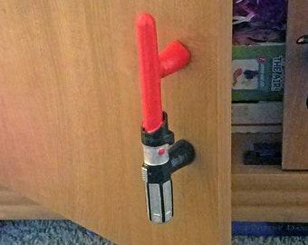 Star Wars Light Saber Drawer Handle - Darth Vader Lightsaber Star Wars Decor Furniture Pull Handle Drawer Pull Cabinet Handle