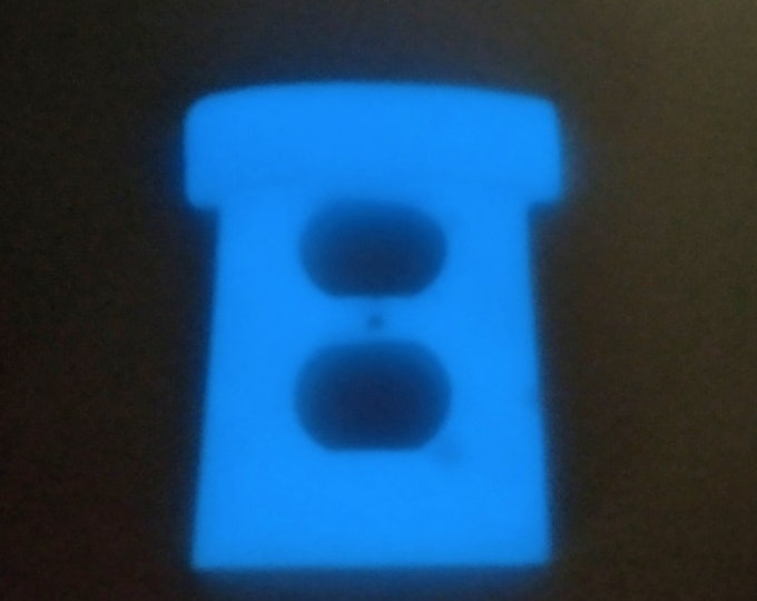 Blue Glow in Dark Super Mario Warp Pipe Wall Plates | Light Switch Cover Power Outlet Single Rocker Nintendo video game decor kids bedroom