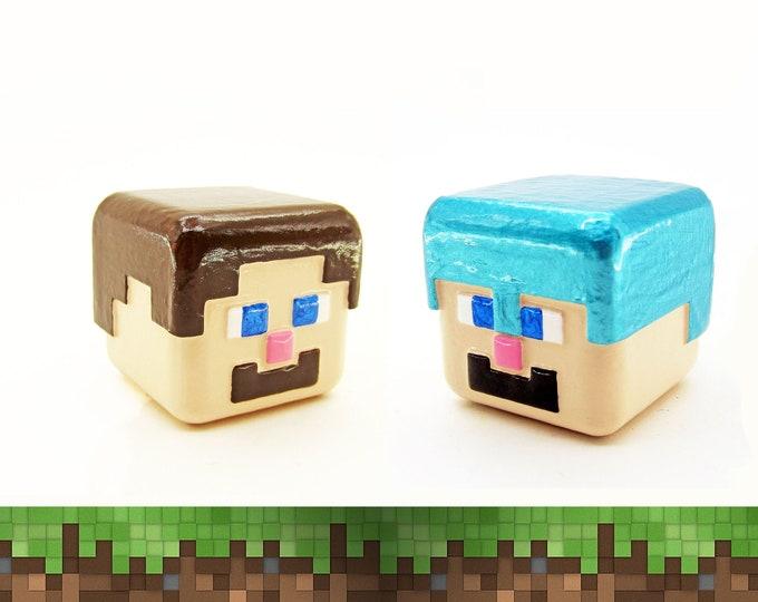 Steve / Armored Steve Cabinet Pull | Minecraft