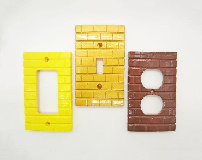 Super Mario Bricks Light Switch Cover / Outlet / GFCI - nintendo video game decor kids bedroom idea man cave decor game room